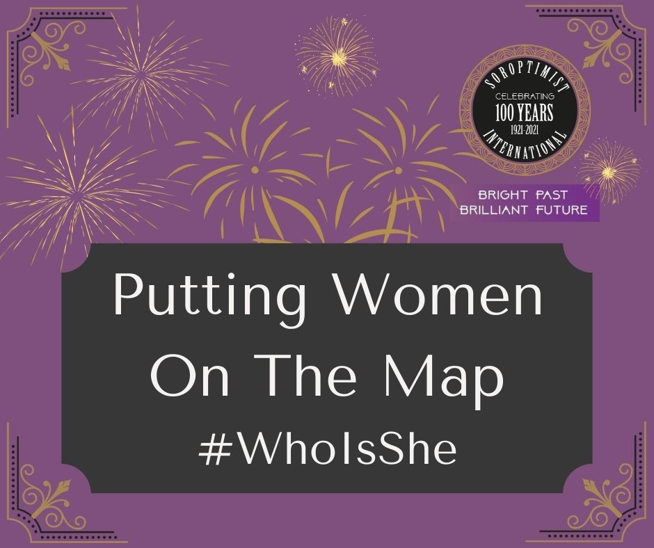 Purple background SIGBI logo with title putting women on the map