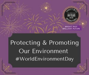 Purple slide with SIGBI logo for World Environment Day