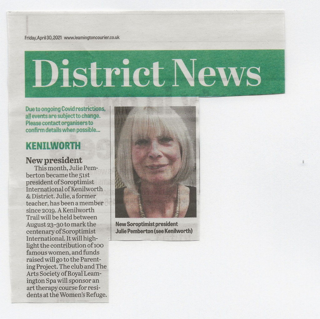 Article in The Courier newspaper