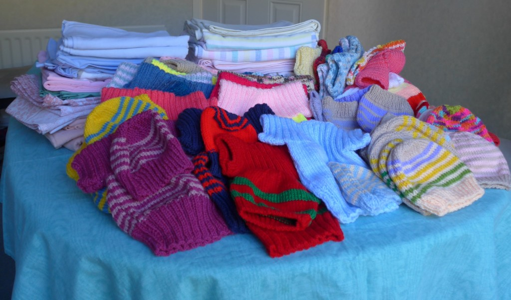 birthing sheets, hats & vests