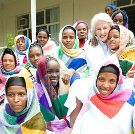 Dr Catherine Hamlin at the Hamlin Fistula Hospital
