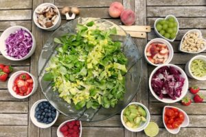 Image of salad and other fresh foods