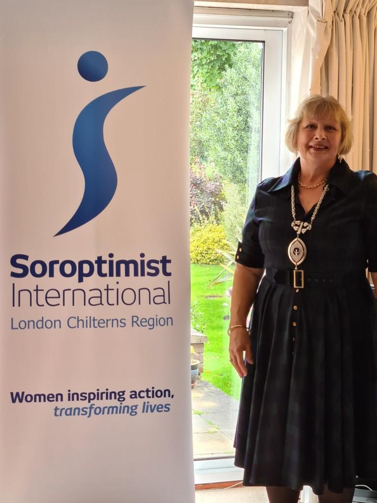 President Helen COI Soroptimist London Chilterns AGM