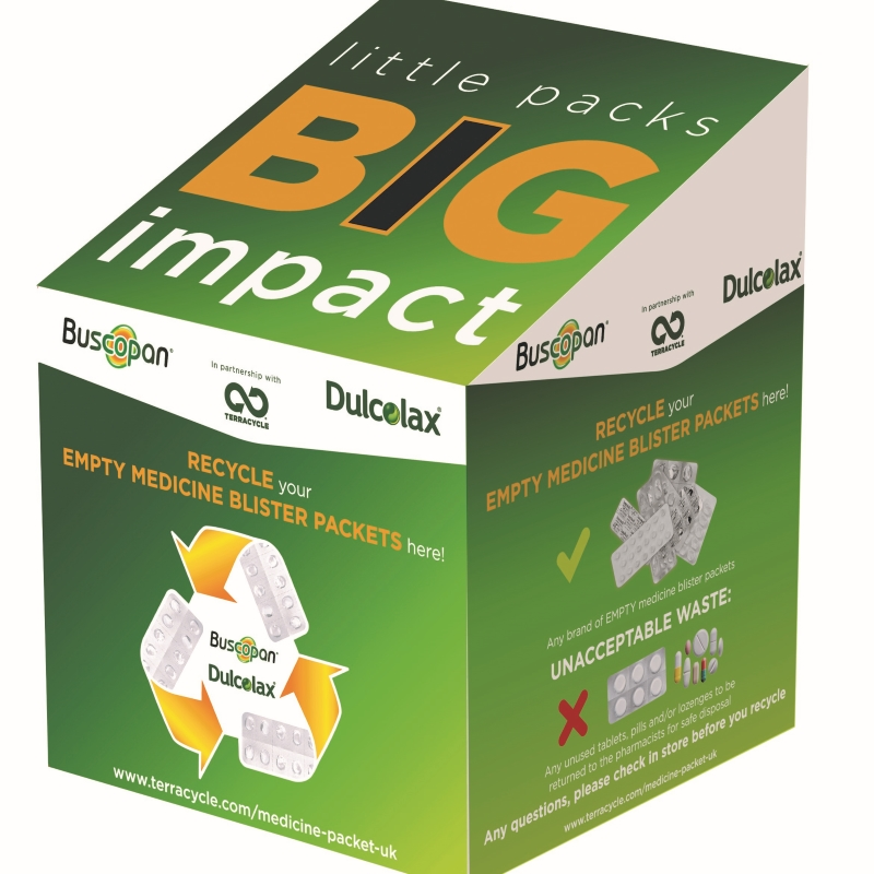 Little Pack Big Impact pharmacy collection box