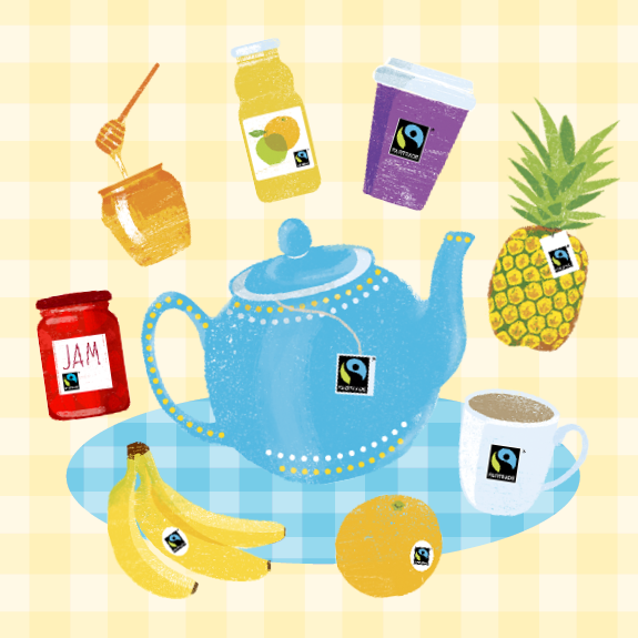Fairtrade Fortnight product illustrations - thumbnail