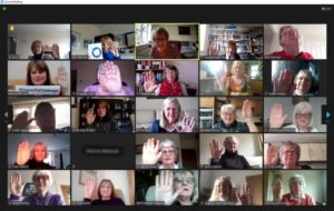 Regional Council & Programme Action Meeting Zoom Screen Shot Choose to Challenge