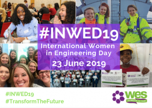 Collage picture of girls involved in International Women in Engineering Day 2019