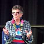 Prue Leith speaking in Nantwich