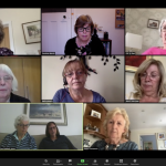 Image of Zoom meeting with women's faces