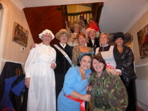 Members in fancy dress- the theme was 100 years of remembrance World War 1