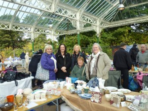 Raising funds for Nepal at Tynemouth Station Market on 24 October 2015