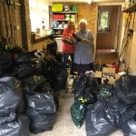 Preston Soroptimists with their bags of items for the Salvation Army for local homeless