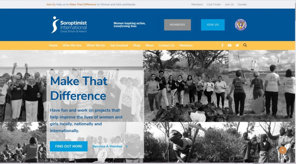 Screen shot of the SIGBI 2020 website home page