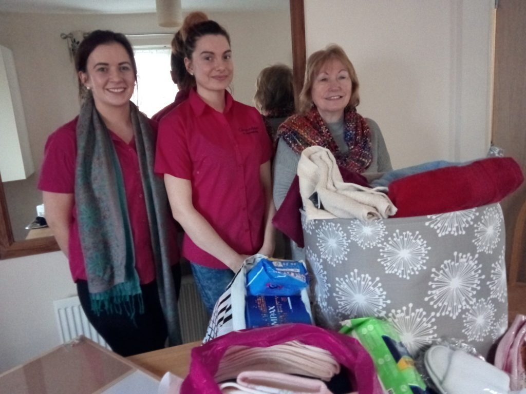 SI Londonderry collected toiletries, towels etc for the Clarendon Night Shelter in Derry.