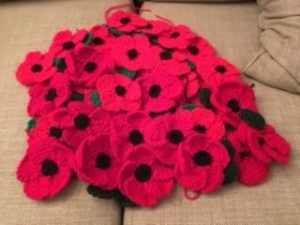 Knitted poppies 2016