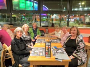 Club members Carolyn, Ann, Helena, Barbara, June and Ros enjoying a meal out on the final evening at Conference.