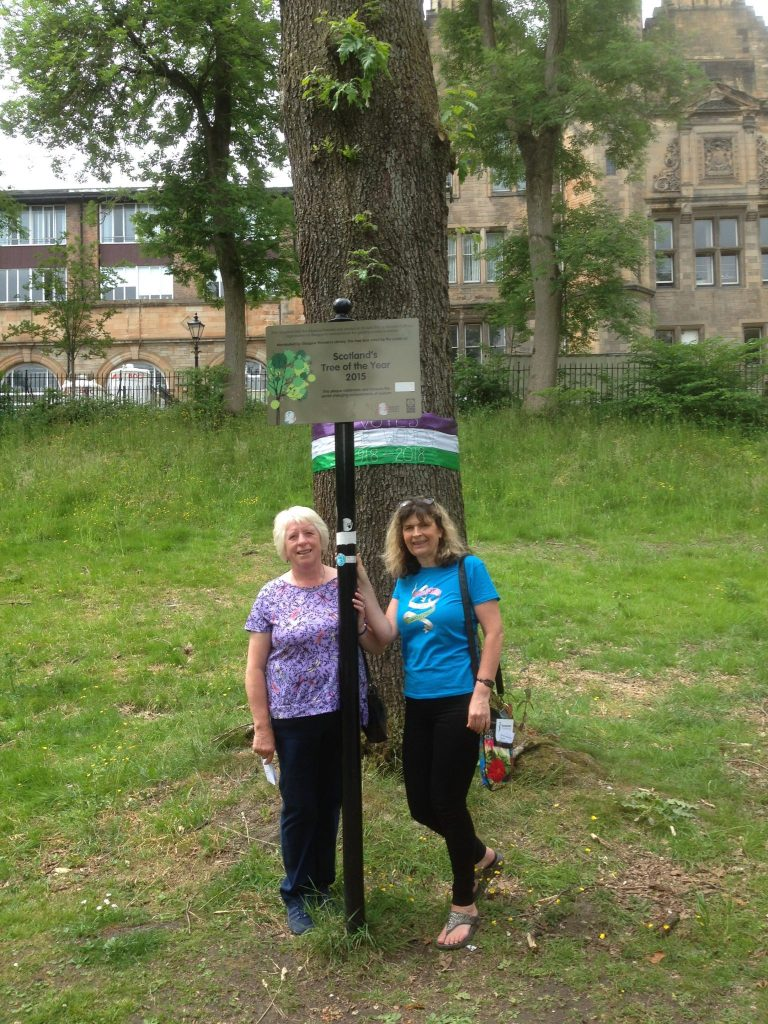 Jean and Carol supporting S.I.Glasgow City Environment Walk