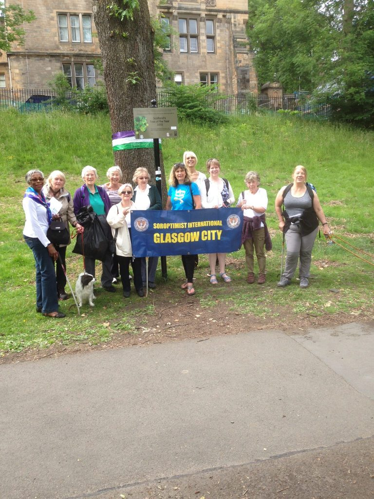 With members of S.I.Glasgow City on their Environment Walk