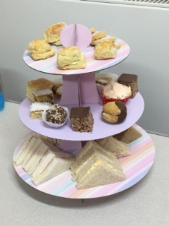 A scrumptious afternoon tea - waiting to be demolished!