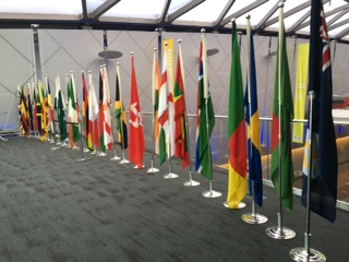 The flags of the Federation at conference, Liverpool