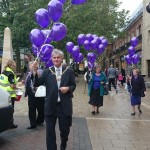 WALKING THOUGH PETERBOROUGH TO RELEASE BALLOONS