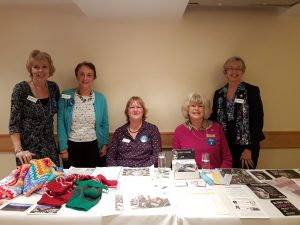 Members Amanda, Helen, Sue, Marion and Pauline at the February Open Evening