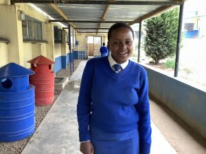 Sinethemba, one of the 2 students whose education is being sponsored by the students at PGHS