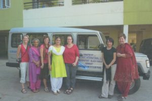 Freudenstadt members with the bus donated to Sangise School