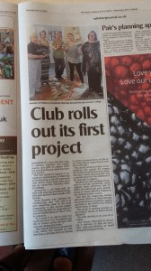 Great coverage in the Salisbury Journal of our first PAC project