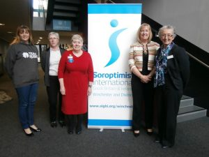 L to R Suzie Ford, Margaret Barnfield, Liz Batten, Ruth Healey and Pauline Monk