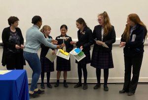 The winning team from Godolphin School