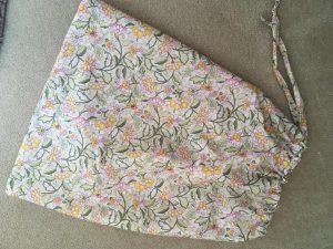 A scrub bag ready for use