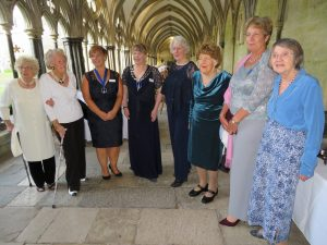 Members of the Legacy Club with President Lisa (4th from left) and President Elect Teresa (3rd from left)