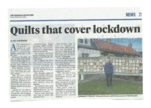 26 03 2021 SI Kirkcaldy member Elizabeth with Lockdown Quilts in Courier & Advertiser