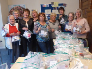 Southport Soroptimists with parcels for homeless people