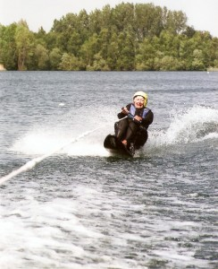Juanita water skiing
