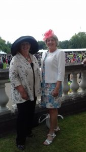 Bobbie & Shirley, SI Bournemouth members at the Royal Garden Party in 2018