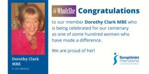 Dorothy Clark member of SI Weybridge