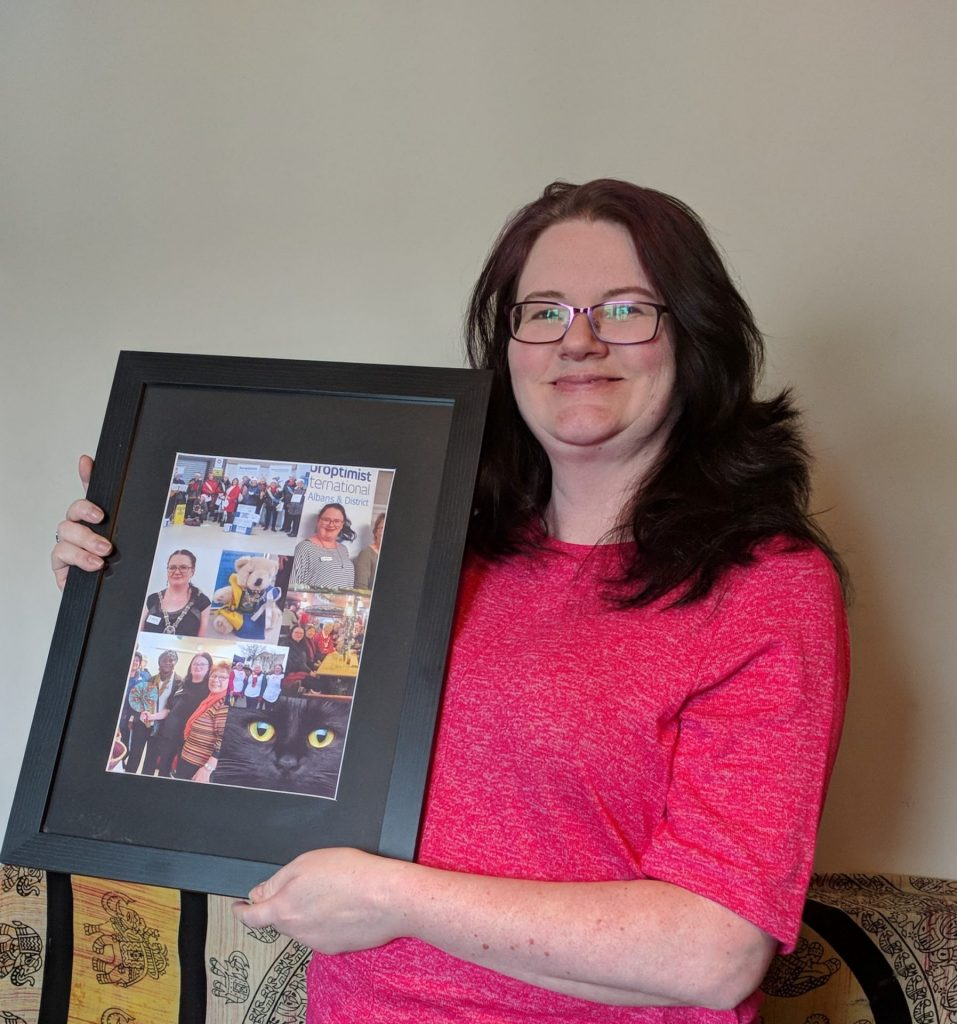 President Katherine Clark with picture gift