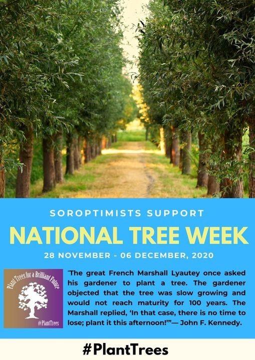 Soroptimist Tree Planting National Tree Week