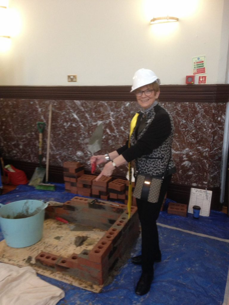 Bernadette the bricklayer