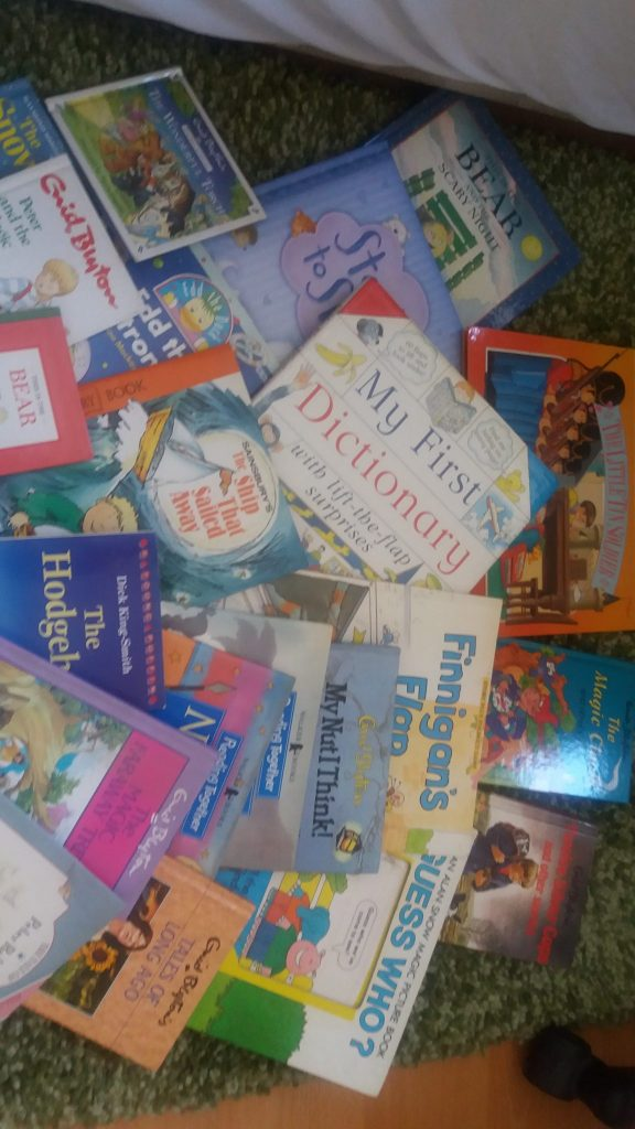 75 books, donated for World Book Day, for the children in the Women's refuge so the women can support their children's learning