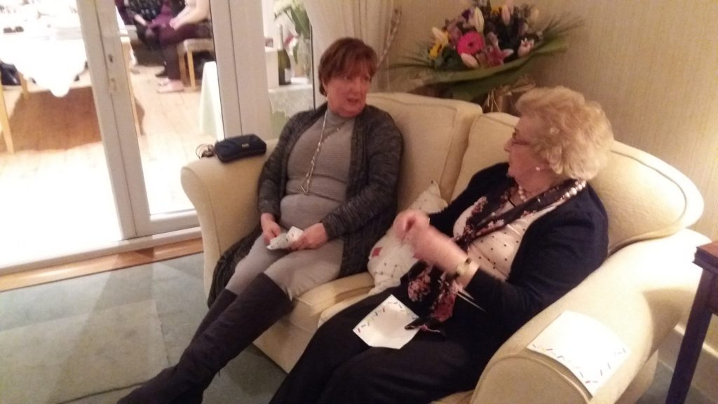 June and Alice enjoying a chat