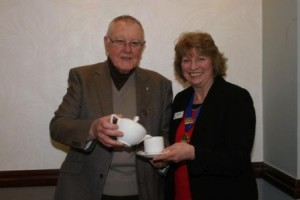 Speaker Bob Phillips with President Alison Elsmore