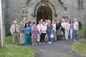 Our New Zealand visitor with members of Stafford Club, at Sandon Church.