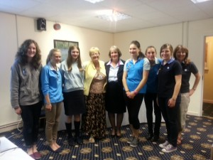 Members of SI Stourbridge & District with Girl Guides