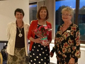 Mary Tooley Induction with Dr Jane Bridgewater-Flint (Immediate Past President) and Sue Solly (Honorary Treasurer)