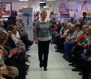 St Austell Fashion Show at M&Co proceeds to Cornwall Bowel Cancer Support Group