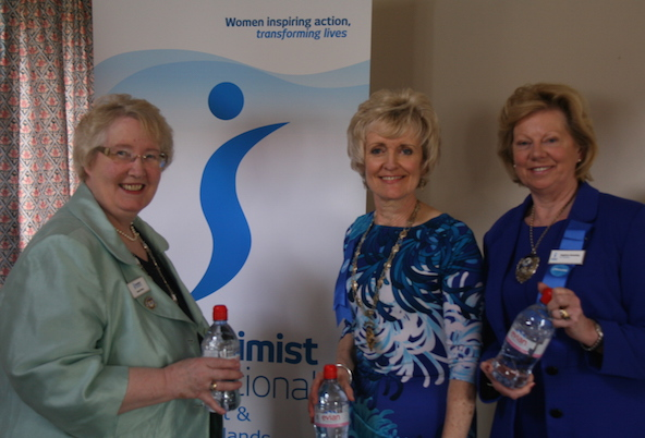 Regional President Kay with Federation President Jenny and Regional Vice President Daphne. 22 March 15.