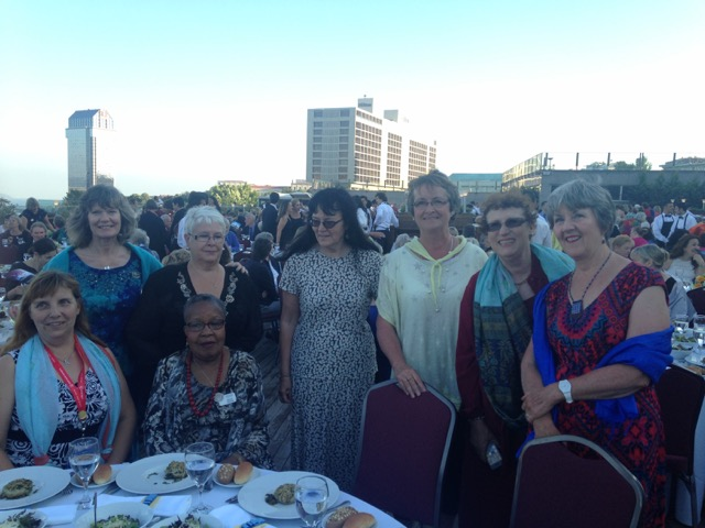 Members from SI Bath with members from SI Edmonton at the Gala dinner